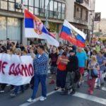 Protestni průvod v Belehradu, Srbsko