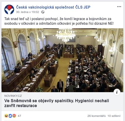 Česká vakcinologická společnost nabádá k totalitaním praktikám a odmítá svobodu a demokracii